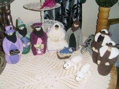 Egen strikket julekrybbe 3