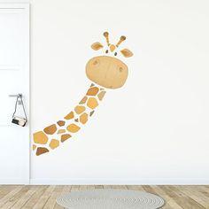Wall Decals Toddler, Nursery Wall Decals, Vinyl Decals, Baby Room Decor, Nursery Decor, Wall Decor, Giraffe Fabric, Giraffe Room, Kids Wall Murals