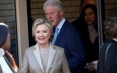 mini.press: Η Χίλαρι ψήφισε μαζί με τον Μπιλ Κλίντον-Καλή τύχη...