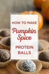 These Pumpkin Spice Protein Balls Are the Perfect Mini Meal Snack! They are packed with protein and natural sweeteners that will help give you lots of energy during a busy day. Try them today & your body will thank you!
