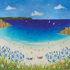 Secret Cove (W374) Coastal Art Greeting Card by Julia Crossland http://www.thewhistlefish.com/product/w374-secret-cove-greeting-card-by-julia-crossland