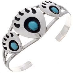 This Ladies Turquoise Bracelet is a perfect blend of color & shine offered in a teardrop display. Turquoise Jewelry, Turquoise Bracelet, Beaded Jewelry, Handmade Jewelry, Bear Claws, Thing 1, Native American Tribes, Silver Cuff, Indian Jewelry