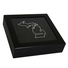 Cathys Concepts Home State Keepsake Box Color: Black Living Room Accessories, Luxury Packaging, Unique Wedding Gifts, Gifted Kids, Amazing Decor, Custom Coasters, Concept Home, Meaningful Gifts, Keepsake Boxes