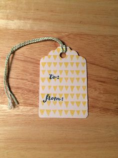 Simple Gift Tags Set of 8 by 43sCustomCreations on Etsy