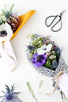 Beautiful Mother's Day flower flat lay.