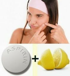 Dr Oz said this Aspirin and Lemon Juice Face Mask or Facial does work! You just need a few uncoated aspirins, freshly squeezed lemon juice, baking soda and some water... | PinTutorials
