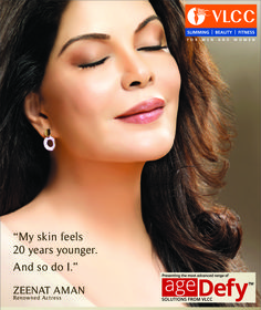 #ZeenatAman speaks about reversing the signs of ageing!  Revive your #beauty with VLCC and get that young look you have been looking back to!  For more details SMS <VLCC ZEENAT> to 56161!