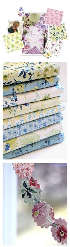 wildflower by Kathy Davis  #fabric #DIY #quilting