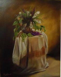 "Saatchi Art Artist ΑγγελικΗ  Aggeliki; Painting, ""The bouquet"" #art 45X35cm, oil on canvas"