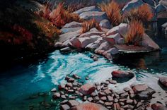 _DSC0897 South Africa, Art Photography, John Smith, River, Gallery, Mountain, Paintings, Outdoor, Oil