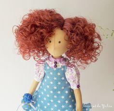 Cloth handmade doll Megan Boneca do tecido от BonecasDaYulia