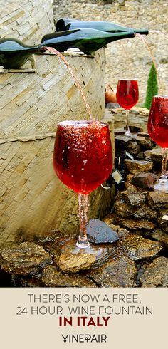 An Italian vineyard has made everyone's dream come true with a free, wine fountain. Italy Vacation, Italy Travel, Italy Trip, Italy Honeymoon, Italian Vineyard, Wine Vineyards, Destinations, Italy Holidays, Italy Tours