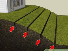 Sep 2019 - How to Level a Sloping Garden. A sloping garden can be a challenging landscape problem for any homeowner. Not only can it sometimes be an eyesore, but it also frequently leads to problems with soil erosion and flooding. Sloped Backyard Landscaping, Landscaping On A Hill, Sloped Yard, Landscaping Retaining Walls, Terraced Backyard, Landscaping Ideas, Steep Hillside Landscaping, Sloping Backyard, Steep Backyard