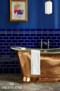 Wall Tiles by Original Style, Artworks Range, Royal Blue Half Tile with Mouldings. Add interest with classy mouldings, skirting boards and corner pieces. Nowadays these are more decorative than functional, adding an attractive transition between surfaces in your bathroom or kitchen.