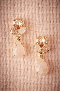 BHLDN Blushing Crystal Drops in  Bride Bridal Jewelry Earrings at BHLDN