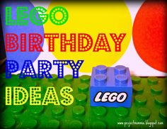 lego printable man that says happy birthday- a lot of great ideas too