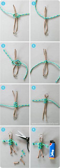 DIY: Paracord keyring by Craft & Creativity DIY: Paracord keyring by Craft & Creativity The post DIY: Paracord keyring by Craft & Creativity appeared first on Armband ideen. Keychain Diy, Paracord Keychain, Paracord Bracelets, Knot Bracelets, Survival Bracelets, Keychains, Diy Jewelry, Jewelery, Jewelry Making