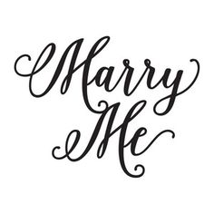 Silhouette Design Store: marry me Lettering Design, Hand Lettering, Wedding Symbols, Word 2, Printable Planner, Free Printables, Art File, Silhouette Design, Marry Me