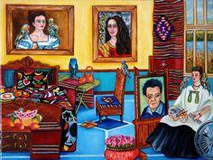 Frida Kahlo print, Mexican Art Frida Kahlo, Frida Kahlo, Mexican Folk Art, Frida's Place