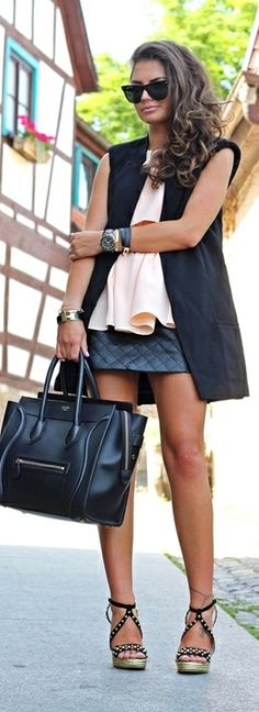 Peplum  Leather -   FashionHippieLoves