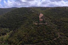 Ruines du château teutonique de Monfort (royaume de Jérusalem).