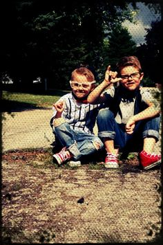 Hipster babies. Boys fashion