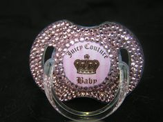 Rhinestoned Pacifier Juicy Baby Blinky by BorntoBlingBoutique, $35.00