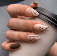 Edgy Nails, Oval Nails, Hot Nails, Stylish Nails, Trendy Nails, Perfect Nails, Gorgeous Nails, Fall Acrylic Nails, Fire Nails