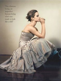 I'm a human being, an imperfect human being who's not made to look like a doll. - Emma Watson
