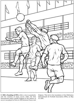 The Soccer Coloring Book, Arcady Roytman. Welcome to Dover Publications Sports Coloring Pages, Coloring For Kids, Coloring Books, Cartoon Drawings, Easy Drawings, 1 Point Perspective Drawing, Basic Sketching, Composition Drawing, Beginner Henna Designs