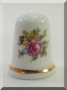 Thimble Theodore Paul Fine English Bone China by DLSpecialties, $12.00