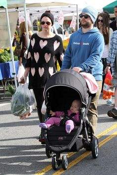 Jack Osbourne takes the family out to the famers market in Los Angeles