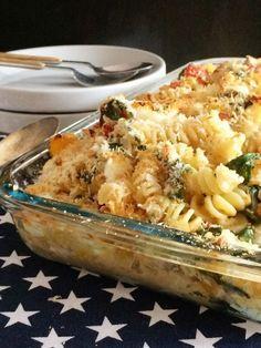Smulpaapje kookt! - Pastaschotel uit de oven met spinazie & feta - Smulpaapje