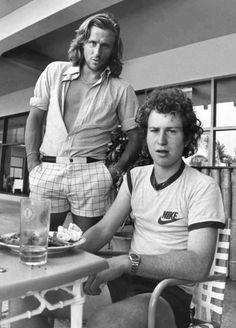 Bjorn Borg & John McEnroe, 1981.