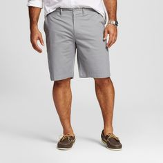Men's Big & Tall Club Shorts Gray 60 - Merona