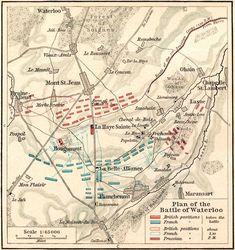 Napoleon: Battle of Waterloo Map Waterloo Map, Battle Of Waterloo, European History, World History, History Pics, Old Maps, French Revolution, Napoleonic Wars, Historical Maps