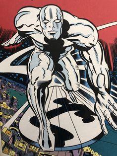 Silver Surfer by Jack Kirby Marvel Comics, Marvel Comic Universe, Marvel Art, Ms Marvel, Captain Marvel, Comics Universe, Jack Kirby Art, Kirby Character, 70s Sci Fi Art