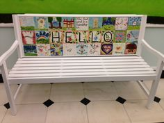 Fundraising Idea: Fundraiser Bench - you could sell these squares to donors Class Auction Item, School Auction Projects, Class Art Projects, Classroom Art Projects, Auction Ideas, Buddy Bench, Home Decor Baskets, School Fundraisers, Fundraising Ideas