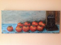 Tomaten, acryl 20 x 50, 2015