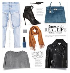 """""""Real Life"""" by marina-volaric ❤ liked on Polyvore featuring MANGO, Hermès, H&M, Witchery, Gianvito Rossi and Kester Black"""