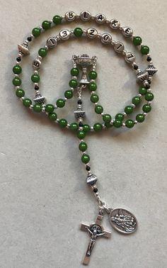 White Rose Rosary Beads Mens Boys Girl First Holy Communion Gift Bag Rosaries