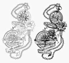 alice in wonderland tattoo drawings - Google Search