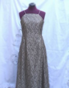 Vintage Embroidered Silk Cocktail dress by KheGreen,