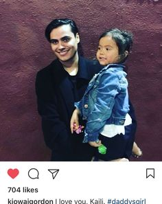 Kiowa Gordon with his adorable little girl Kaili.