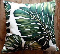 tropical cushions palm leaf homeworks design store