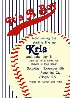 It's A Home Run!!! Vintage Baseball Baby Shower - Momma Go Round | Momma Go Round