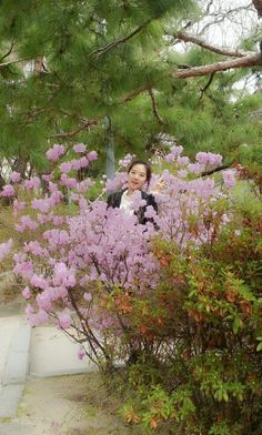 Very beautiful day♥ I'm in pink flowers:)