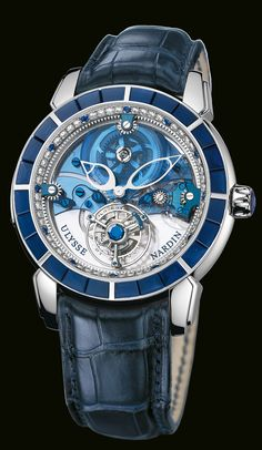 Royal Blue Tourbillon Haute Joaillerie  Flying Tourbillon. $320,000 (And yes...you read that price correctly)