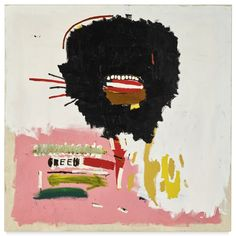 Artwork by Jean Michel Basquiat, UNTITLED (WAX), Made of acrylic and oilstick on canvas