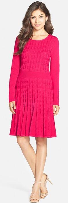 Eliza J Cable Knit Dress